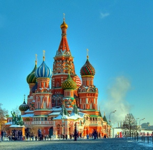 St. Basil's Cathedral in Moscow (By verygreen at Flickr)